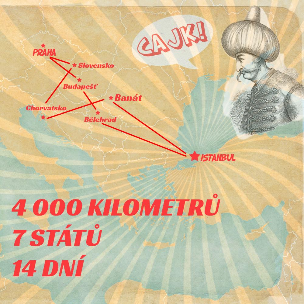 Balkánský roadtrip mapy