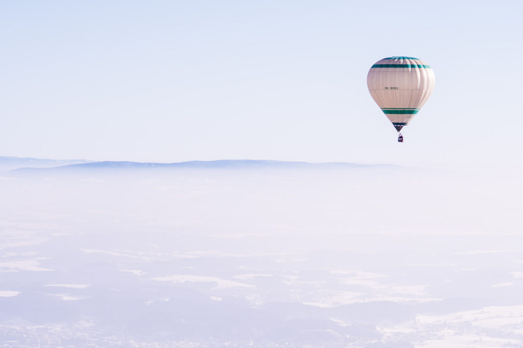 Let v horkovzdusnem balonu Petr Jan Juracka