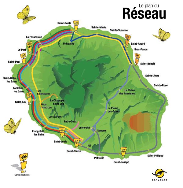 Mapa - Bus Réunion