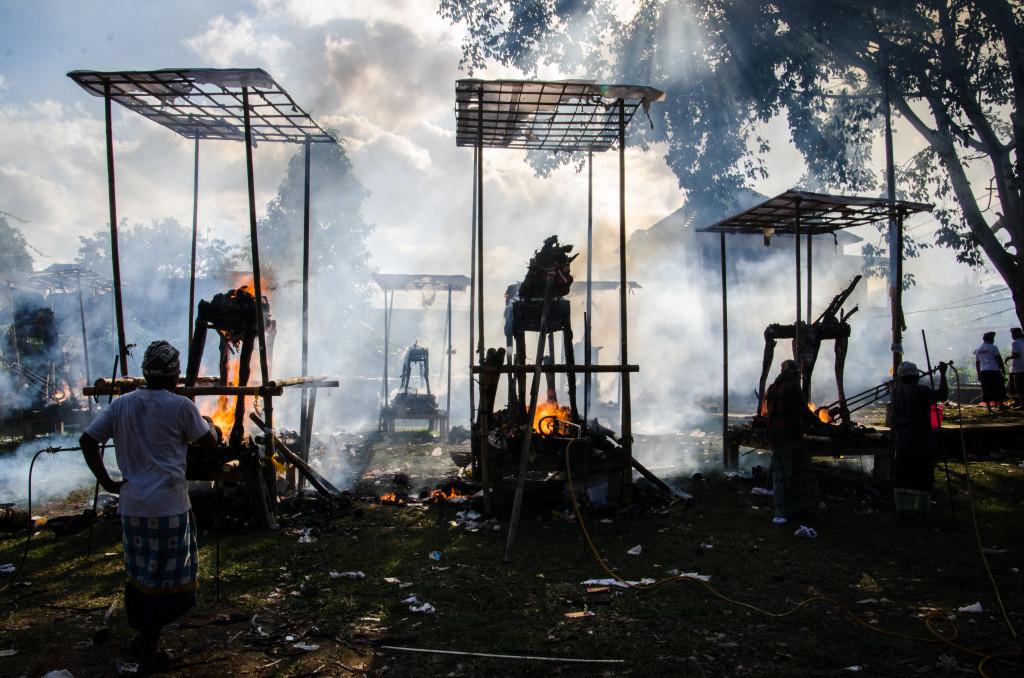 Kremace v Ubudu na Bali