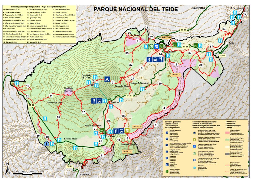 Mapa Pico del Teide