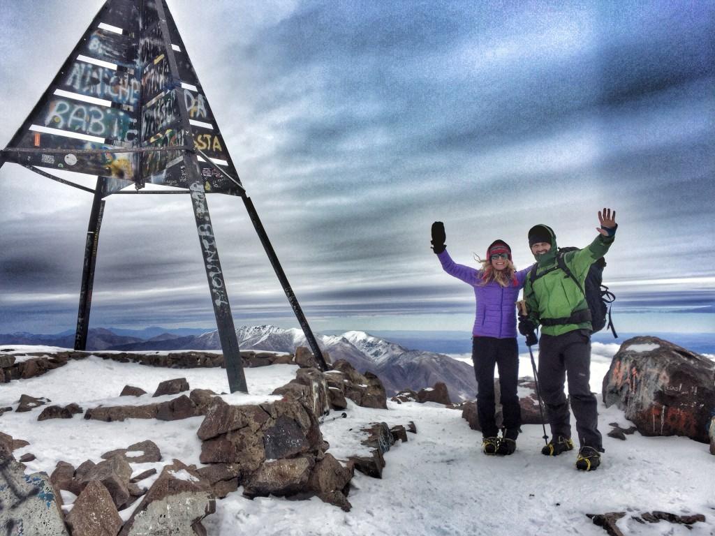 Na vrcholu. Toubkal. 4 167m.